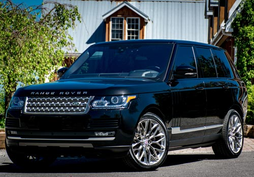 Auto Detailing Services | Black Range Rover showcasing Autobuf in out service in Kingston, Ontario